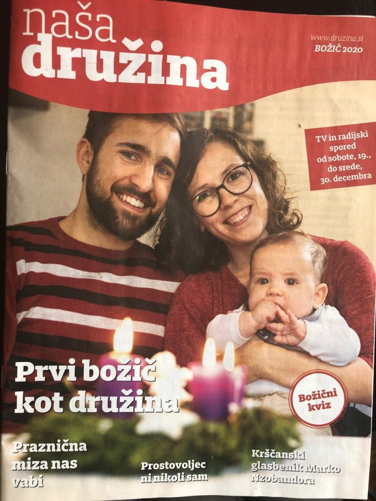 Članek v reviji Naša družina